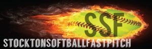 SSF Logo - flaming yellow softball
